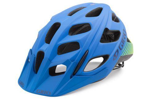 GIRO HEX matt blue lime 2016 Cyklistické helmy