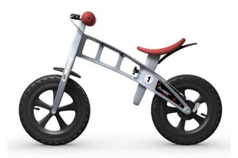 Dětské odrážedlo First Bike Cross stříbrné Dětská odrážedla