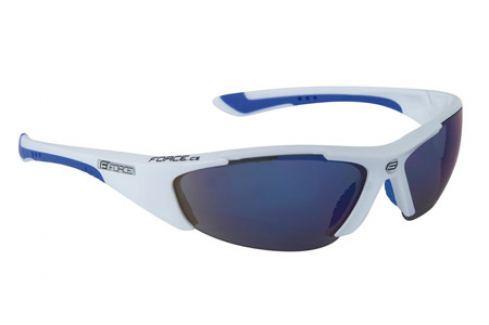 Dámské cyklistické brýle Force LADY bílé, modrá laser skla Cyklistické brýle