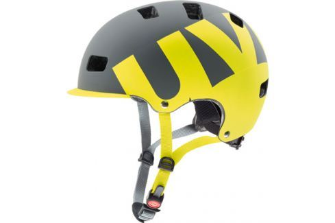 Cyklistická helma Uvex HLMT 5 PRO šedá-limetková matná Cyklistické helmy