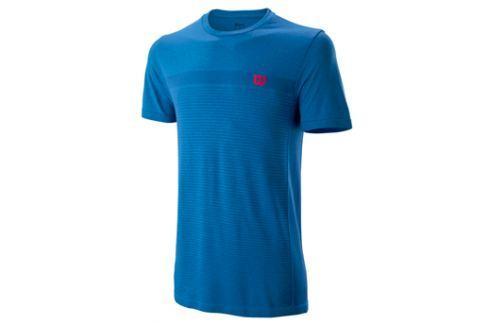 Pánské tričko Wilson Competition Seamless Crew Blue Trička s krátkým rukávem