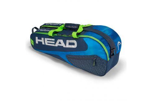 Taška na rakety Head Elite 6R Combi Blue/Green Tenisové tašky