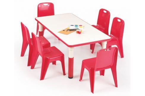 Halmar Dětský stoleček Simba obdélník - červený Dětské stoly