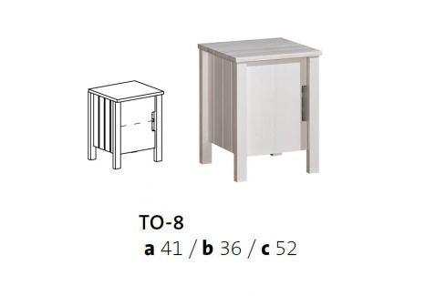 Vomaks Noční stolek TOBI TO-8 - 3984/BEZ Sady dětského nábytku