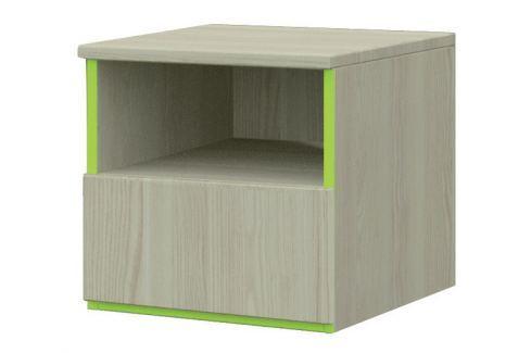 Falco Noční stolek Adrian 14 - jasan/limetka Sady dětského nábytku