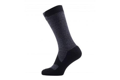 Recenze Nepromokavé ponožky SealSkinz Walking Thin Mid Velikost ponožek   43-46 (L)   Barva  černá šedá 5b2110a152