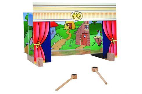 ANDREU Toys Magnetické divadélko Dřevěné edukativní hračky a hry
