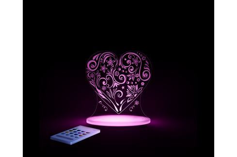 Aloka Noční světýlko Srdce + ovladač pro volbu barev Noční světýlka a lampičky