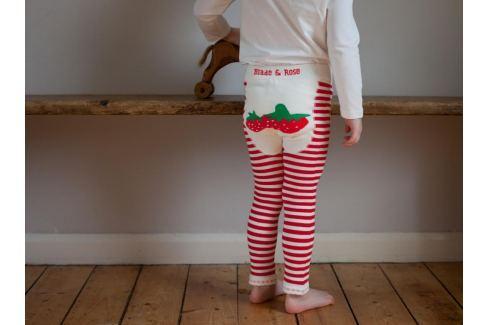 Blade & Rose Leginky s jahůdkami - bílo-červené Dětské punčocháče a legíny