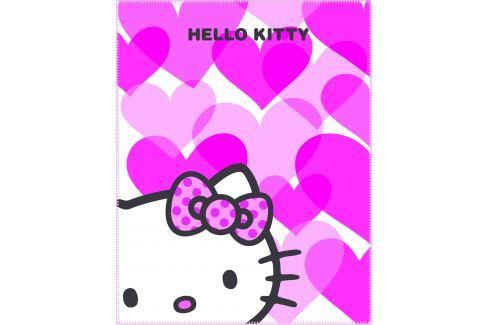 CTI Fleecová deka Hello Kitty Mimi Love Pink 110x140 cm Dětské deky
