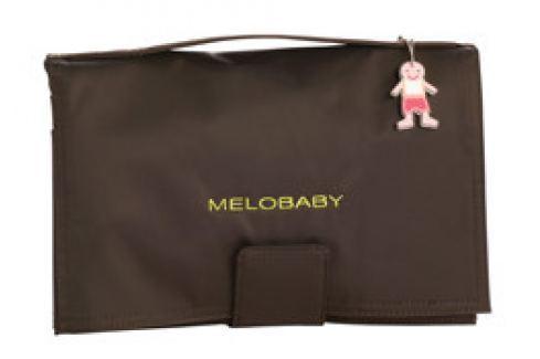 Melobaby MELOCHOC - hnědá taška + zelená přebalovací podložka Kočárky a příslušenství