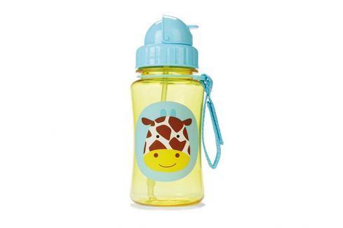 SKIP HOP Zoo lahvička s brčkem - žirafa Lahvičky