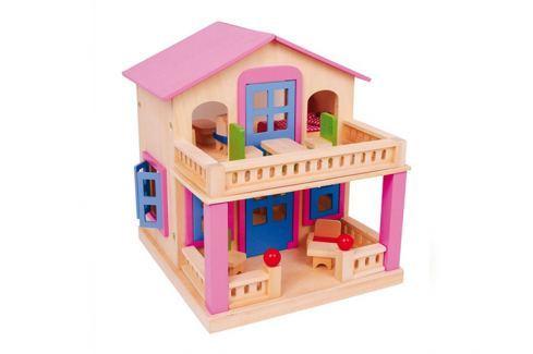 Small foot Domeček pro panenky s terasou Domečky pro panenky