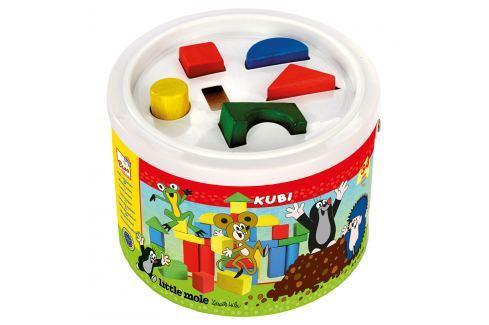 Bino Kostky v kbelíku - Krtek Dřevěné kostky