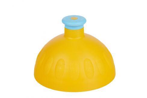 Zdravá lahev Náhradní kompletní víčko tmavě žluté/zátka modrá Lahvičky