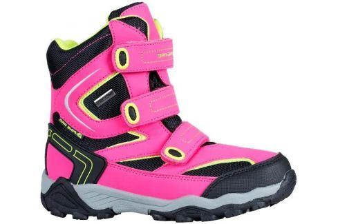 ALPINE PRO Dívčí vysoké zimní boty Dairo - růžové Zateplená a kotníková obuv