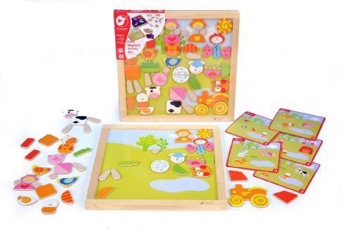 Teddies Magnetická tabulka Dřevěné edukativní hračky a hry