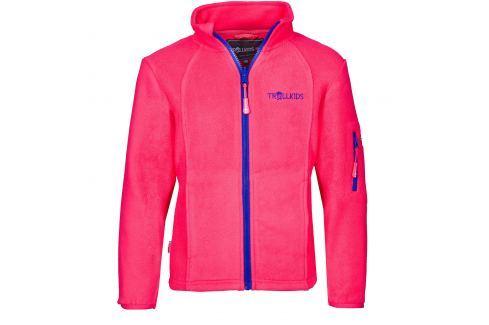 Trollkids Dívčí fleecová bunda Arendal - růžová Dětské Fleecové bundy/mikiny