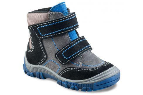 Richter Chlapecké zimní kotníkové boty - šedo-černé Zateplená a kotníková obuv