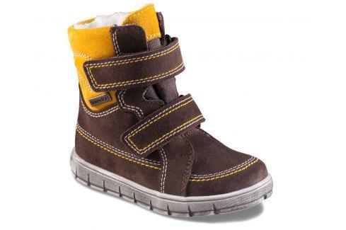 Richter Chlapecké zimní boty - žluto-hnědé Zateplená a kotníková obuv