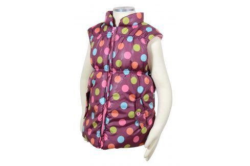 PIDILIDI Dívčí vesta s barevnými puntíky - fialová Dětské vesty