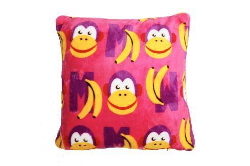 My Best Home Polštář Funny Letters 40x40 cm - růžový Dětské polštáře