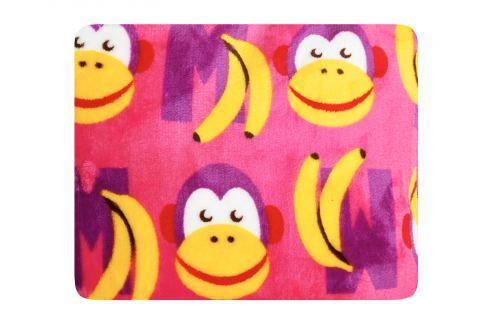 My Best Home Deka Funny Letters 75x100 cm - růžová Dětské deky