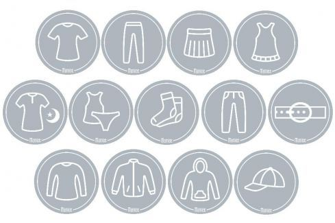 Mamiee Samolepky pro holky světle šedé - set 13 kusů Samolepky na zeď