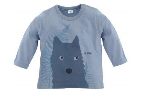 Pinokio Chlapecké tričko s vlkem - šedé Trička s dlouhým rukávem