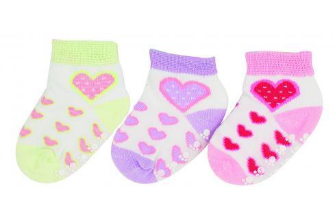 G-mini Dívčí set 3 párů ponožek - barevný Dětské ponožky a podkolenky