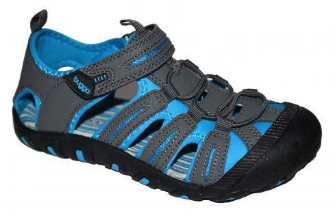 Bugga Chlapecké sandály - šedo-modré Sandály