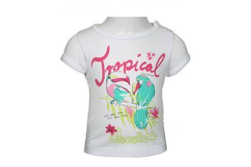 Blue Seven Dívčí tričko Tropical - bílé Trička s krátkým rukávem