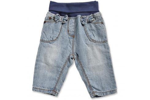 Blue Seven Dívčí džínové kalhoty s mašličkami - světle modré Dětské Kalhoty