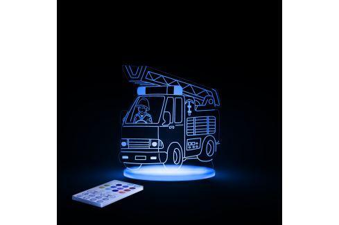 Aloka Noční světýlko Hasičské auto + ovladač pro volbu barev Noční světýlka a lampičky