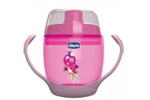Chicco Hrnek 123,180 ml,12m+, růžový Kojenecké lahve a hrníčky