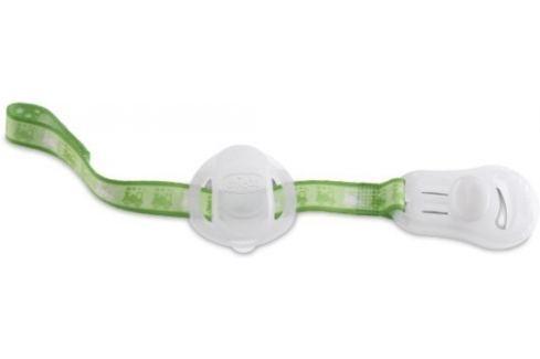 Chicco Řetízek na šidítko s krytem na dudlík, zelená Dudlíky