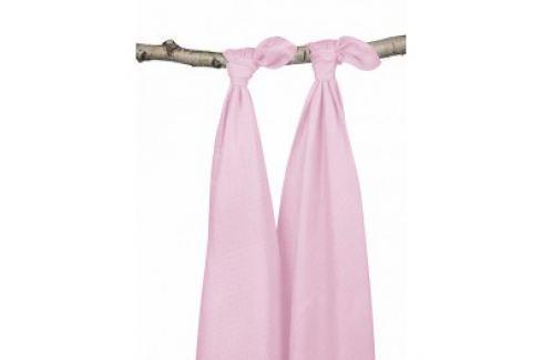 Jollein Osušky bambus balení 2ks, light pink, 115x115cm Osušky a ručníky