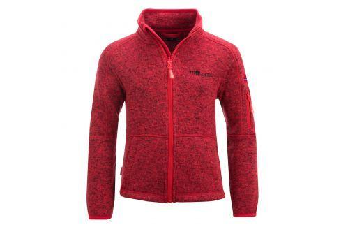Trollkids Dětská fleecová bunda Jondalen - červená Dětské Fleecové bundy/mikiny