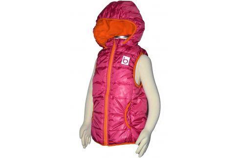 Bugga Dívčí vesta s odepínací kapucí - růžová Dětské vesty