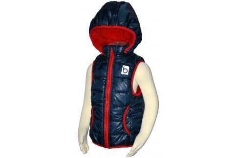 Bugga Chlapecká vesta s odepínací kapucí - modrá Dětské vesty