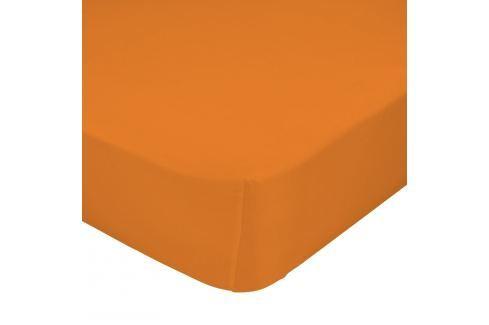 Mr. FOX Bavlněné prostěradlo, 90x200 cm - oranžové Dětská prostěradla