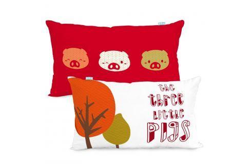 Mr. FOX Povlak na polštář Little Pigs, 50x30 cm Povlaky na polštáře