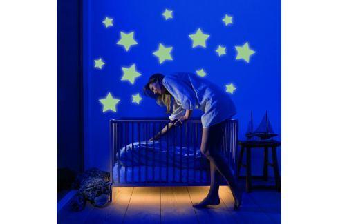 Housedecor Velká svítící samolepka na zeď Hvězdy Samolepky na zeď