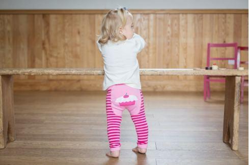 Blade & Rose Leginky s dortíkem - růžové Dětské punčocháče a legíny