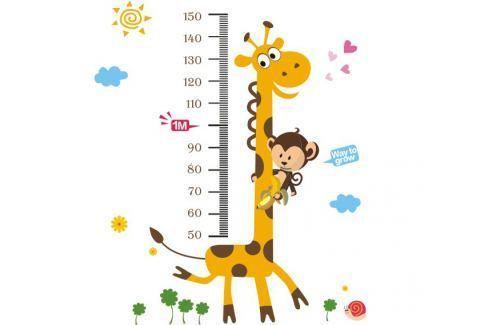Ambiance Dekorační samolepky - žirafa a opička Samolepky na zeď