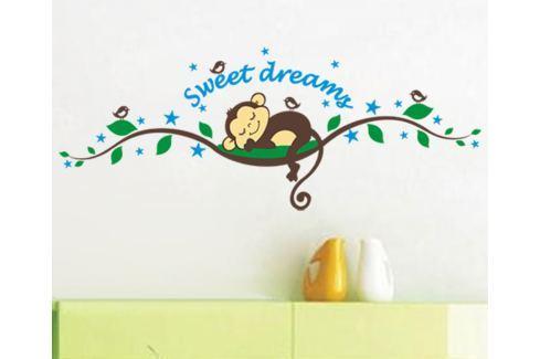 Ambiance Dekorační samolepky - spící opička na stromě Samolepky na zeď
