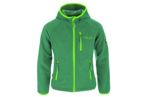 Trollkids Dětská fleecová bunda Stavanger s kapucí - zelená Dětské Fleecové bundy/mikiny