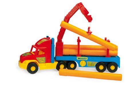 WADER Auto Super Truck stavební s rourami - 2 barevné varianty Stavební auta, bagry, jeřáby