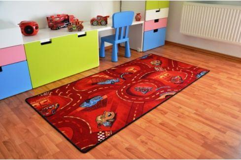 Vopi Dětský koberec Cars červený 95x200 cm Koberce