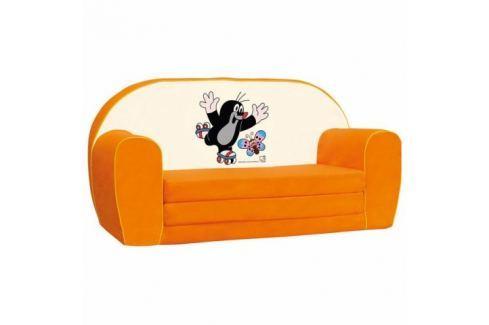 Bino Mini pohovka krteček, oranžová Křesílka a gaučíky